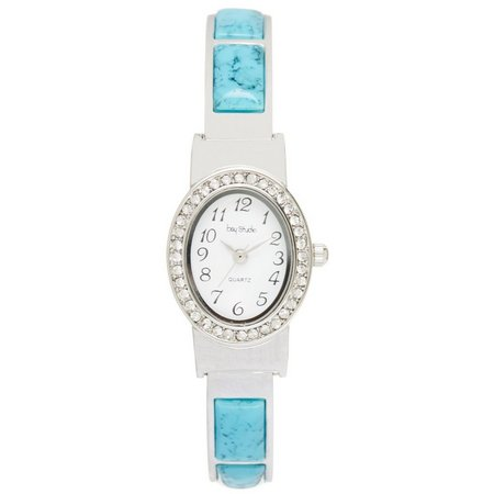 Bay Studio Oval EZ Read Cuff Bracelet Watch