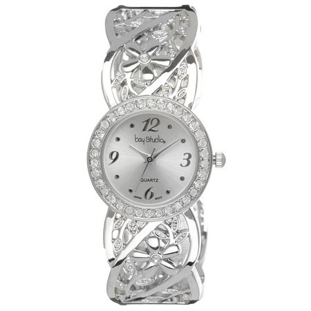 Bay Studio Womens Filigree Bangle Bracelet Watch