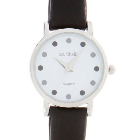 Bay Studio Black & White Polka Dot Strap