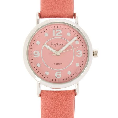 Bay Studio Womens Solid Color Face Watch