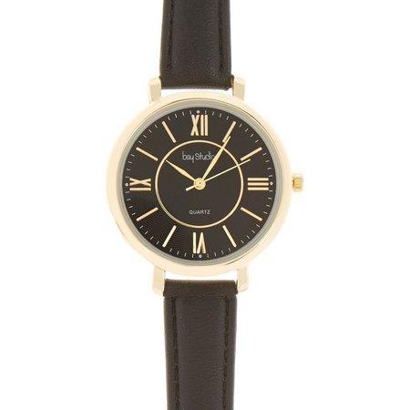 Bay Studio Womens Roman Numeral Black Watch