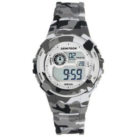Armitron Womens Grey Camo Print Sport Watch