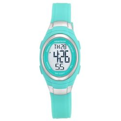Armitron Womens Aqua Oval Resin Strap Watch