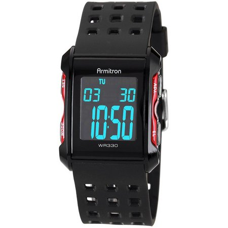 Armitron Black Resin Digital Sport Watch