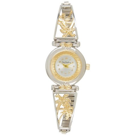 Bay Studio Two Tone Palm Tree Stretch Watch