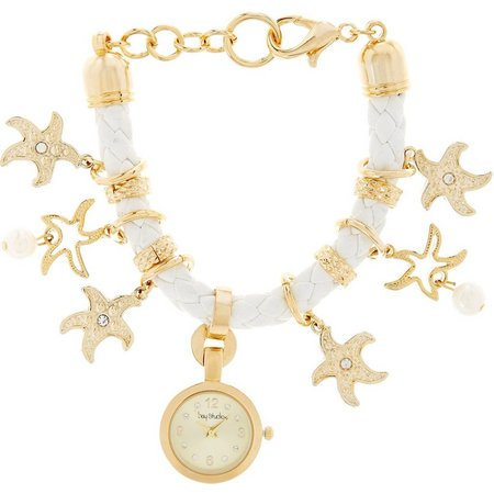 Bay Studio Womens Starfish Charm Bracelet Watch