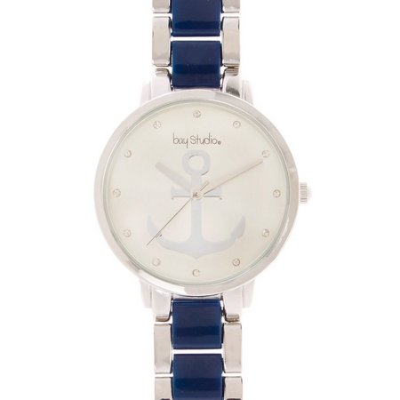 Bay Studio Womens Anchor Dial Bracelet Watch