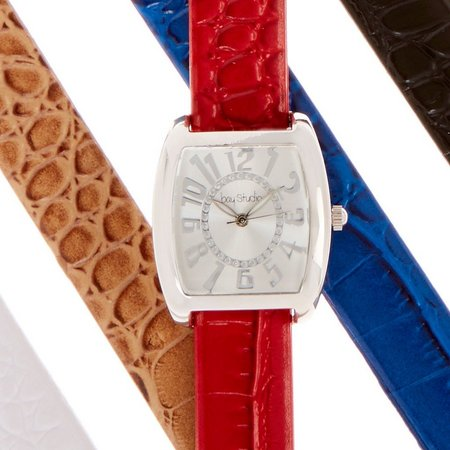 Bay Studio 5-pc. Rectangle Sunray Dial Watch Set