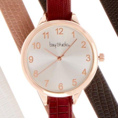 Bay Studio 5-pc. Skinny Strap Multi Watch Set
