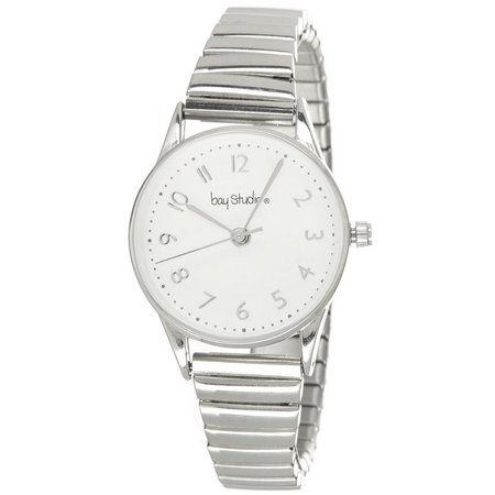 Bay Studio Womens EZ Read Round Dial Stretch