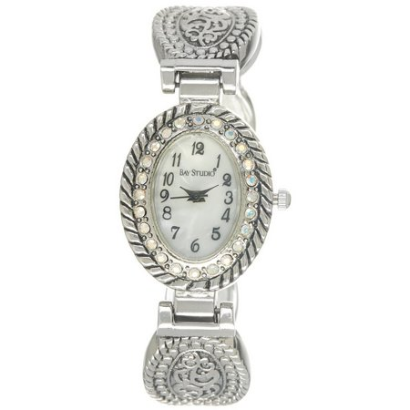 Bay Studio Womens Oval Cuff Bracelet Watch