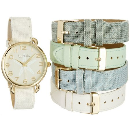 Bay Studio 5-Pc. Starfish Strap Watch Set