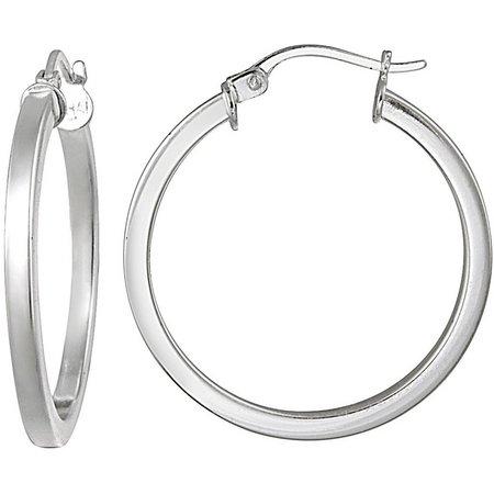 Signature 30mm Sterling Silver Hoop Earrings