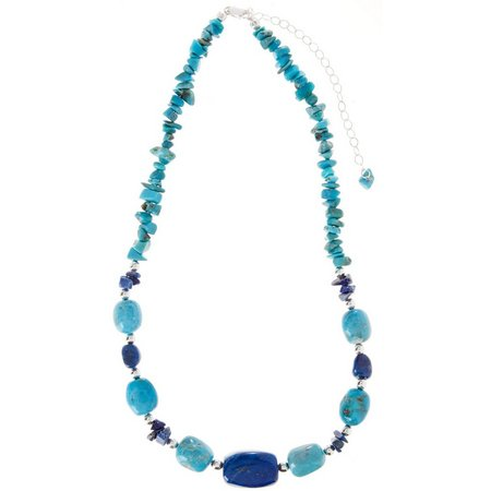 Signature Sterling Turquoise Lapis Necklace