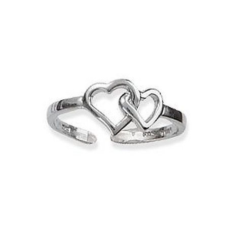 Signature Sterling Double Heart Toe Ring