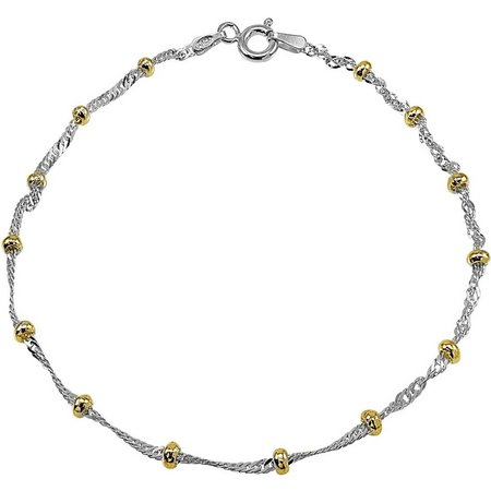 Signature Beaded Sterling Silver Anklet