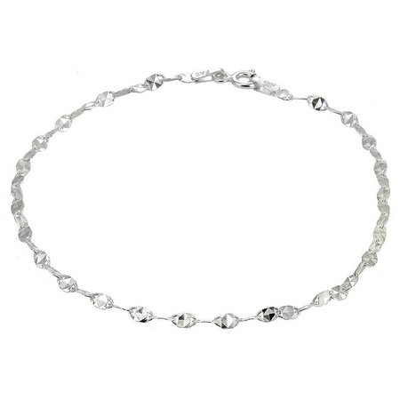Signature Sterling Silver Twist Chain Anklet