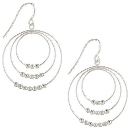 Signature Sterling Triple Ring Dangle Earrings