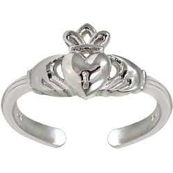 Signature Sterling Silver Claddagh Toe Ring