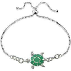 Signature Sterling Silver Turtle Slide Bracelet