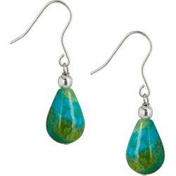 Signature Blue Jasper Stone Teardrop Earrings