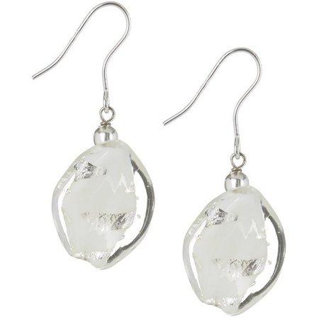 Signature Glass Twist Sterling Silver Earrings