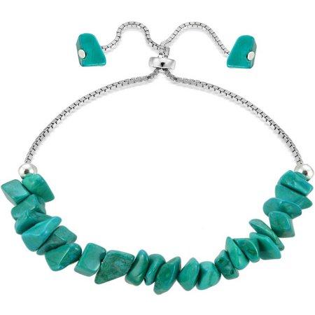 Signature Sterling Silver Turquoise Blue Bracelet