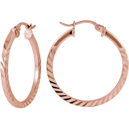 Signature Rose Tone Click-It Hoop Earrings