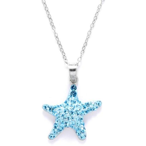 Signature Blue Crystal Starfish Pendant Necklace Bealls