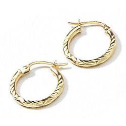 Signature Sterling Silver Small Text Hoop Earrings