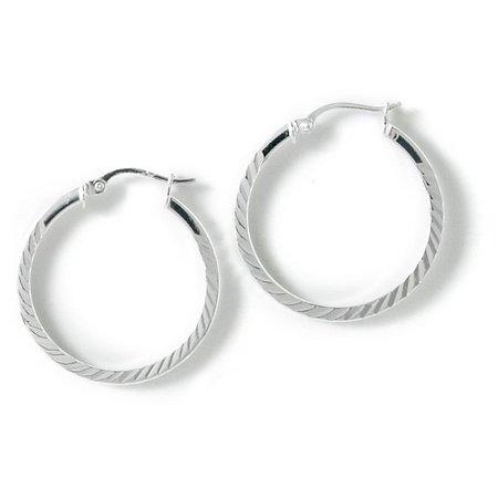 Signature Sterling Silver Hoop Earrings