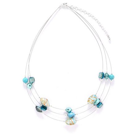 Signature Sterling Silver Glass Bead Necklace