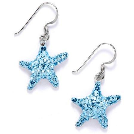 Signature Blue Crystal Starfish Earrings
