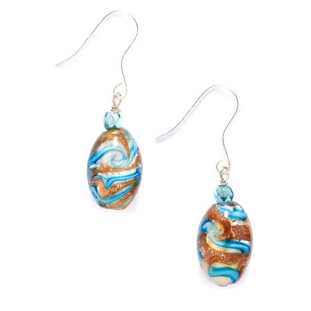 Signature Sterling Silver Glass Bead Drop Earrings