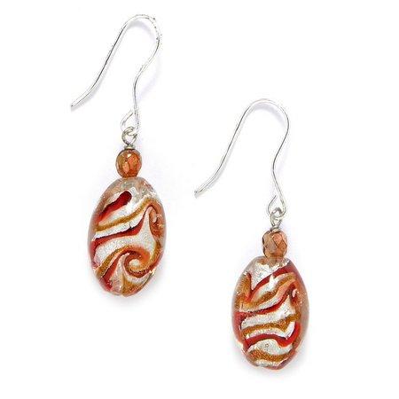 Signature Paprika Glass Bead Drop Earrings