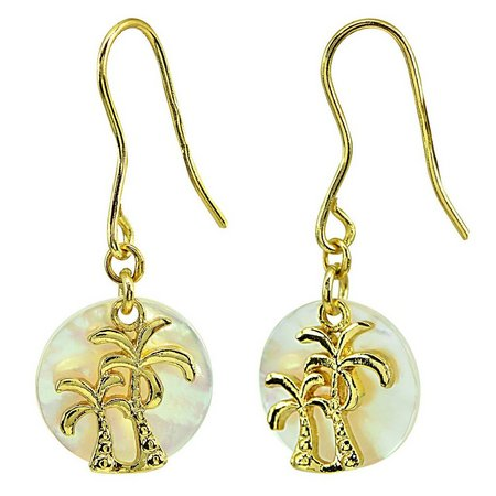 Beach Chic Mother Of Pearl Double Palm Tree
