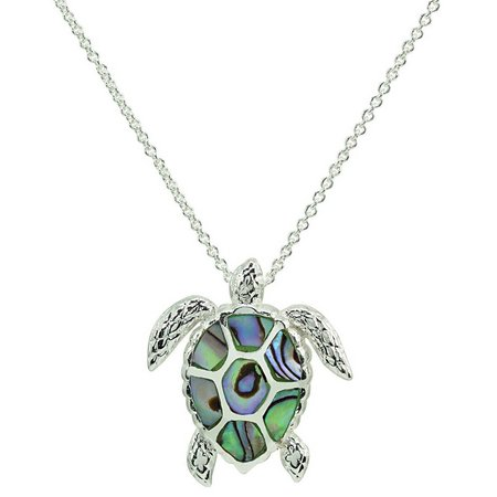 Beach chic abalone sea turtle pendant necklace bealls florida beach chic abalone sea turtle pendant necklace aloadofball Gallery