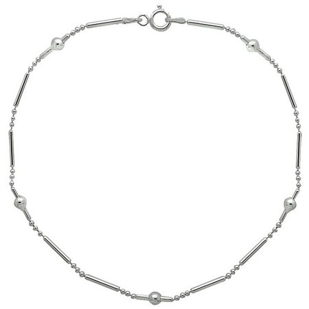 Sterling Silver 10 in. Dot & Dash Chain