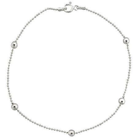 Sterling Silver 10 in. Bead & Ball Chain