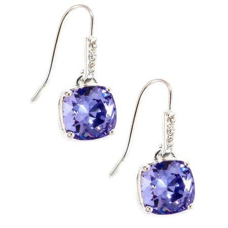 Shine Silver Plated Tanzanite Drop Earrings