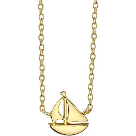 Life's A Beach Sailboat Pendant Necklace
