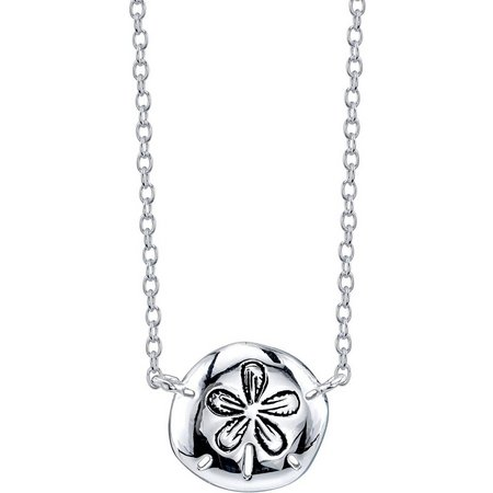 Life's A Beach Sand Dollar Pendant Necklace