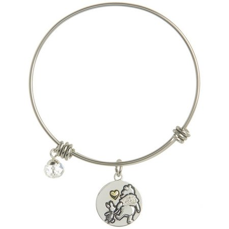 Disney Pooh & Piglet Big Hearts Charm Bangle