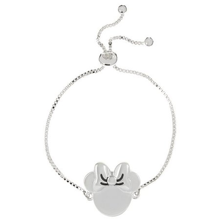 Disney Minnie Mouse Silver Plated Slider Bracelet