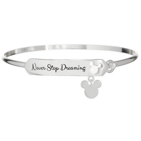 Disney Mickey ID Never Stop Dreaming Bangle
