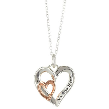 Footnotes My Daughter Heart Pendant Necklace