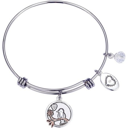 Footnotes Daughter Inspirational Charm Bangle Bracelet