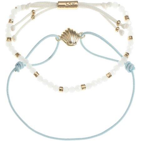 Life's A Beach Shell & Beaded Bracelet Set