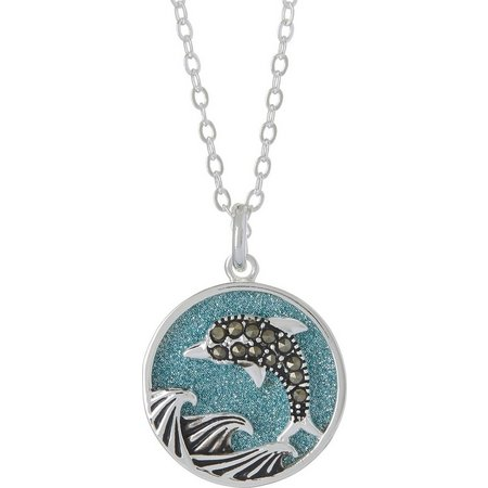 Footnotes Dolphin Sunshine Pendant Necklace