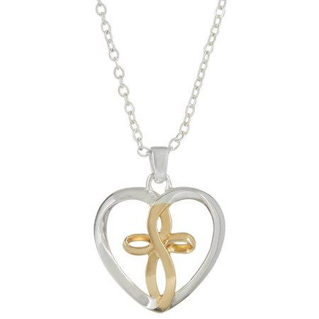 Footnotes Faith Guides The Heart Pendant Necklace